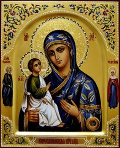 Рукописная икона Иерусалимская с мощевиком 3