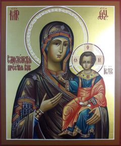 Рукописная икона Смоленская