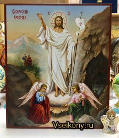 Рукописная икона Воскресение Христово 7