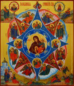 Рукописная икона Неопалимая Купина 8