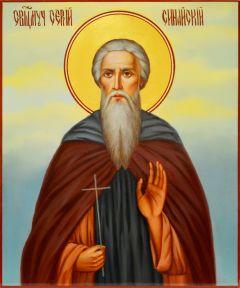 Рукописная икона Сергий Синайский масло