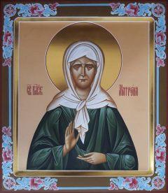 Рукописная икона блаженная Матрона 10