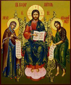 Рукописная икона Господь Вседержитель (Деисус 2)(Размер 21*25 см)