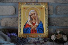 Рукописная икона Умиление Пресвятой Богородицы 3