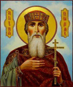 Рукописная икона Владимир равноапостольный масло