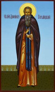 Рукописная икона Дионисий Глушицкий