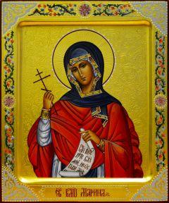 Рукописная икона Марина Антиохийская с резьбой