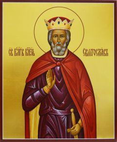 Рукописная икона Святослав князь