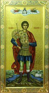 Мерная икона Георгий Победоносец с резьбой 4