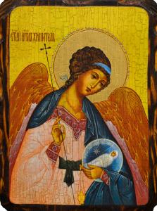 Икона состаренная Ангел с Душой Человека