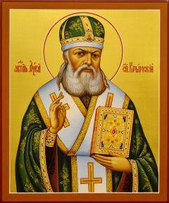 Рукописная икона Лука Крымский (Войно-Ясенецкий) 4 (Размер 17*21 см)