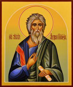 Рукописная икона Андрей Первозванный 9 (Размер 17*21 см)