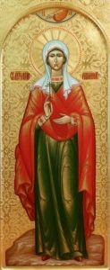 Рукописная икона Святая Анна Адрианопольская