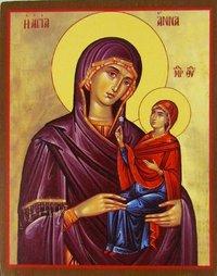 Рукописная икона Святая Анна Праведная Мать Пресвятой Богородицы купить с доставкой