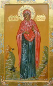 Рукописная икона Святая мученица Анна Готфская купить с доставкой