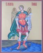 Рукописная икона Архангел Рафаил