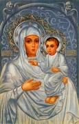 Рукописная икона Белостокская Божия Матерь