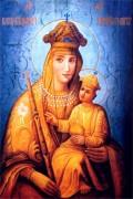Рукописная икона Белыничская Божия Матерь