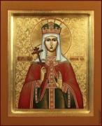 Рукописная икона Евдокия Московская