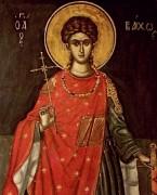 Рукописная икона Вакх Сирийский