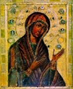 Рукописная икона Вардзийская Божия Матерь