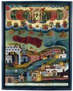 Рукописная икона Видение Пономаря Тарасия