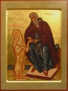 Рукописная икона Герасим Иорданский