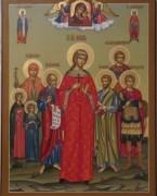 Рукописная семейная икона 15