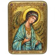 Икона ручной работы Ангел Хранитель камни