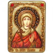 Икона Галина Коринфская с камнями