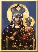 Рукописная икона Дубовичская Божия Матерь