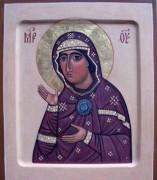 Рукописная икона Едесская Божия Матерь