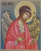 Рукописная икона Ангел Хранитель золото фон
