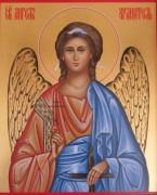 Рукописная икона Ангел Хранитель поясной золото