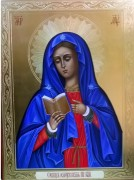 Рукописная икона Калужская Божия Матерь