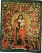 Рукописная икона Звезда Пресветлая