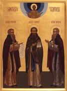 Рукописная икона Зосима, Савватий и Герман