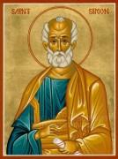 Рукописная икона Симон Зилот