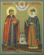 Рукописная икона Петр и Феврония 12