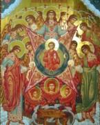 Рукописная икона Собор Архангела Михаила