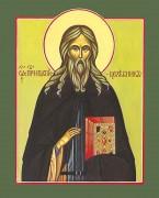 Рукописная икона Ипатий Печерский Целебник