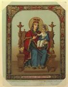 Рукописная икона Испанская Божия Матерь
