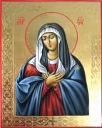 Рукописная икона Умиление