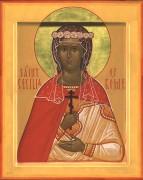 Рукописная икона Кикилия (Цецилия) Римская