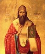 Рукописная икона Кирилл Александрийский