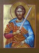 Рукописная икона Максим Воин