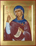 Рукописная икона Маргарита