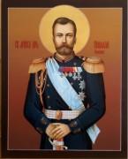 Рукописная икона Николай Романов