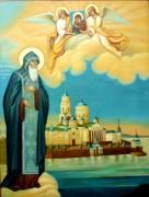 Рукописная икона Нил Столобенский