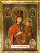 Рукописная икона Новодворская Суражская